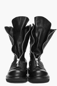 Rick Owens Zipped Motocycle Boots