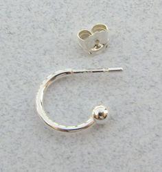 Sterling Silver Hoop Earrings Earwires with Ball by BeadingHeartCo, $3.25