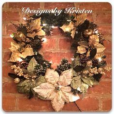 Winter...Christmas...Holiday Wreath  ~ handmade by me!