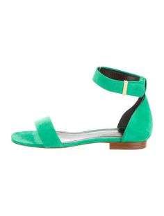 Cuffed Green Suede Sandals from the Phoebe Philo Collection - Céline (at The RealReal) #RealRealScore