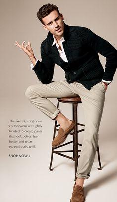 Banana Republic | men | khakis | chino pants