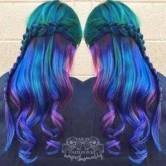 Stunning Rainbow Braids!