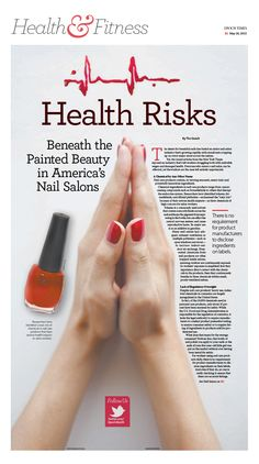 Health Risks Beneath the Painted Beauty in America's Nail Salons|Epoch Times #Health #newspaper #editorialdesign