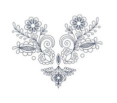 Výšivka Vajnory, obrys, 19x23 cm
