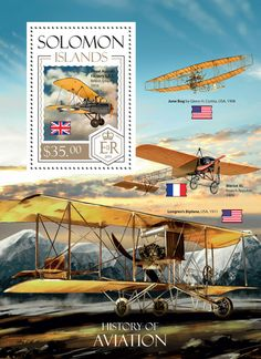 SLM 14208 b History of Aviation (Royal Aircraft Factory S.S, British empire, Solomon Islands, Aviation, Empire, Stamps, Aircraft, British, History, Travel, Seals