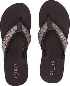 Guess Shoes, Discount Shoes, Brand You, Leather Shoes, Open Toe, Latest Fashion, Flip Flops, Shoes Heels, Footwear