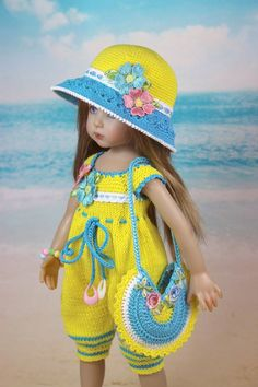 Diy Crafts - VK is the largest European social network with more than 100 million active users. Crochet Baby Shoes, Crochet Doll Clothes, Knitted Dolls, Girl Doll Clothes, Crochet Dolls, Woolen Clothes, Girls Dresses Sewing, Barbie Kids, Cute Baby Dolls