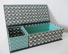 """Tolle Stiftebox """"Blue Wave"""" von Zuckerlädchen auf DaWanda.com"""