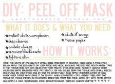 Enjoy this little beauty card for a wonderful DIY peel off face mask to get rid of those blackheads and help your skin! You can even see the blackheads on the mask once you take it off. Diy Peel Off Face Mask For Acne Homemade Acne Mask, Homemade Lip Balm, Homemade Moisturizer, Aloe Vera, Diy Peel Off Mask, Diy Masque, Blackhead Mask, Blackhead Remover, Diy Face Mask