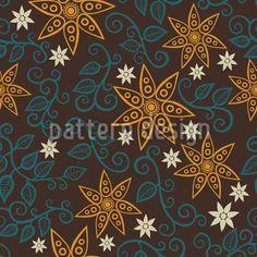 Filigree Star Flowers,  Design Pattern by Irina Timofeeva at patterndesigns.com