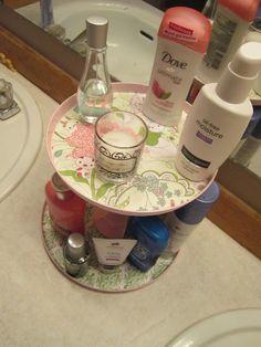Burner Cover Craft Idea: Bathroom Organizer