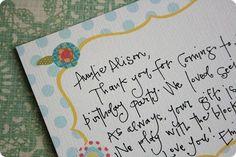 lovely handwriting