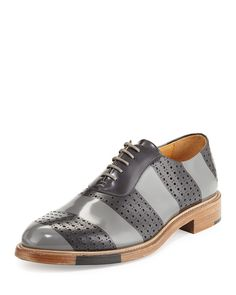 The Office of Mister Scott Perforated Brush-Off Leather Oxford