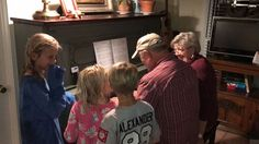 """Sunday, March 19, 2017~ What a full day!! Church..out to eat with 4 other couples.. visited Aunt Lucy in Birmingham.. visited Carol & Gene  and Hub & Mardy in Springville...and finally the Alexanders on our way home. Photo is Nina & PaPa playing our """"duet"""" for the grands!!  We arrived back home 12 hours after we left for church this morning!!!!"""