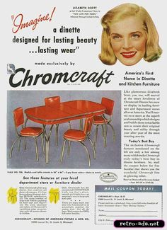 "...Lizbeth Scott advertising a dinette...? Well, she could have her ""girlfriends"" over for a snack...."