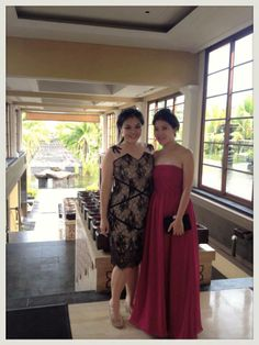 Our Black Lace Kerry Dress (left) looks simply stunning for Bali reception - IDR 1,850,000. Order yours at nmayinda@gmail.com