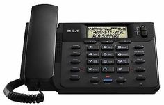 Corded Telephones: New Rca 25201Re1 2 Lines Corded Phone Home Telephone Speakerphone Caller Id BUY IT NOW ONLY: $40.99