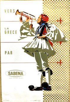 Vers la Grèce par Sabena