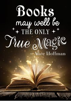 Books may well be the only true magic. Check out other inspirational book quotes that all readers will relate to. #BooksQuotes