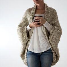 DECISIVENESS: Oversized Scoop Sweater Knitting Pattern