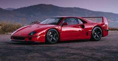 Ferrari F40 Strikes A Pose With HRE Wheels #Ferrari #Ferrari_F40