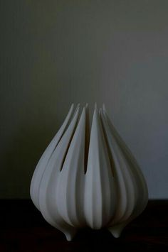 Youngs White Washed Ceramic Shell Vase 11.75