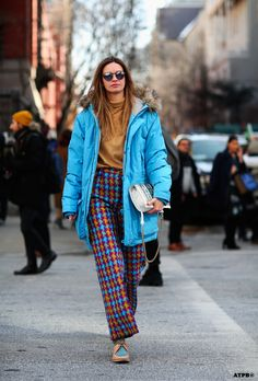 love that pop of colour. #ClaraRasz in NYC. #ATPB