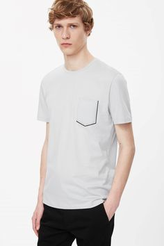 T-shirt with bonded pocket