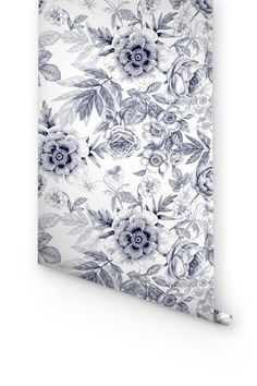Transform any room in your home into floral paradise with this self-adhesive vinyl GREY ANEMONES FLOWER pattern removable wallpaper! Rose Wallpaper, Vinyl Wallpaper, Self Adhesive Wallpaper, Peel And Stick Wallpaper, Adhesive Vinyl, Wallpaper Ideas, Vinyl Decals, Wall Decals, Anemone Flower