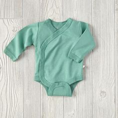 6-12 Months Babysoy One-Piece (Green)