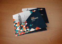 Square Cool Colorful Squares Trifold on Behance