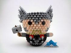 New origami Pichu Origami Design, Diy Origami, Origami Modular, Origami Fish, Useful Origami, Paper Crafts Origami, Origami Tutorial, Origami Ideas, Oragami