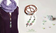 Lederkette mit Swarovski Perlen von Seila's Herzenssachen auf DaWanda.com