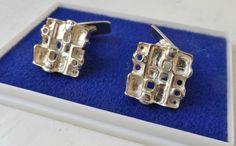 "Norwegian 925S Sterling Silver Cufflinks ""TUNDRA"" Juhls Norway #Handmade"