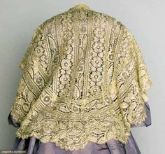 Beaded Lace Capelet, 1860-1880, Augusta Auctions, November 13, 2013 - NYC, Lot 43