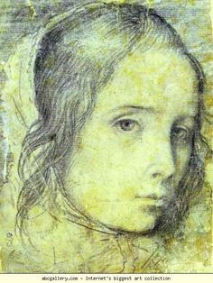 Diego Velázquez. Head of a Girl. Olga's Gallery.