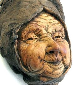 wood spirit carving | ORIGINAL WOOD SPIRIT CARVING * HAG FAIRY GRANNY CRONE BABUSHKA OOAK ...