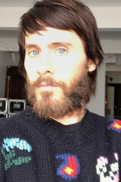 Jared Leto wearing  Gucci Intarsia Wool Blend Sweater