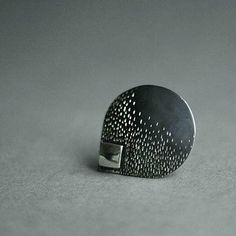 Brooch silver by AnnaSlezakJewellery on Etsy, Brooch, Stud Earrings, Texture, Jewellery, Trending Outfits, Unique Jewelry, Handmade Gifts, Silver, Diy