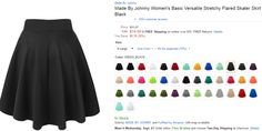 this skater skirt is cute and comes in so many colors!
