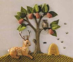 "From ""Stumpwork Embroidery Designs and Projects"" by Jane Nicholas."