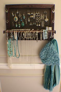 *****This is a MADE TO ORDER listing. You will receive a jewelry organizer the same as the one pictured above but this one already has a