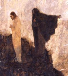 """Virtudes, Vícios E Pecados... """"Tentação De Cristo"""", de J. Kirk Richards"""