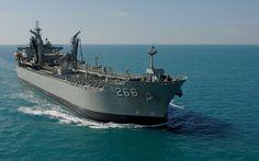 Royal Australian Navy replenishment ship HMAS Sirius off the coast of Darwin, during Exercise Kakadu, August 2008.