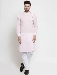 Designer Pink Linen Kurta With Aligarh Pajama For Men By Treemoda – Yard of Deals Gents Kurta Design, Boys Kurta Design, Mens Indian Wear, Indian Men Fashion, Wedding Dress Men, Wedding Dresses Men Indian, Designer Kurtis, Punjabi Kurta Pajama Men, Sharp And Dapper