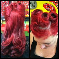 Lovely Pinup hairstyle! http://www.thepinuppodcast.com shares this pinup pin because it is worthy!!