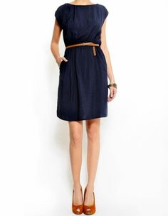 Similar to my navy dress.  It would probably be a lot more flattering with a belt like this...