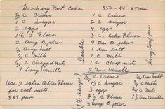 Old Hickory Nut Cake Recipe