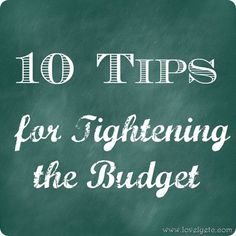 10 Budget Tips: easy ways to start saving some money! Liked most this statement: This time we went to an auto part store and had them hook up their code reader to the engine.
