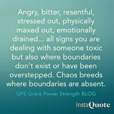 Chaos breeds where boundaries are absent. YES!